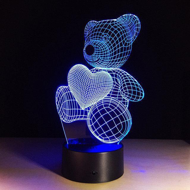 3D Светильник Мишка (3 режима)