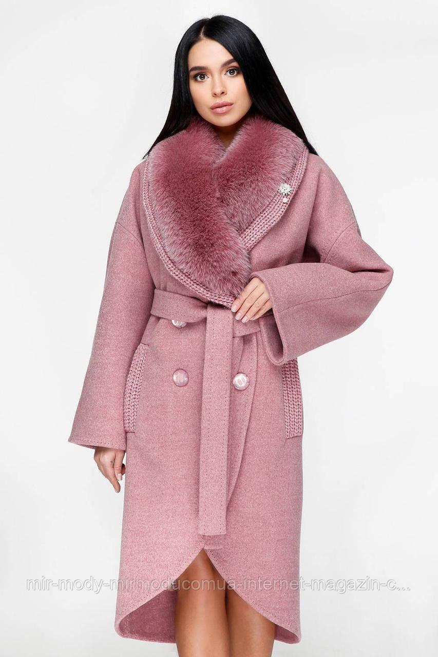 Пальто П-1089 н/м Шерсть пальтовая  113-1712 Тон 170 с 44 по 54 размер (фати)