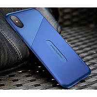 Чехол Baseus iPhone X Card Pocket (Dark Blue)