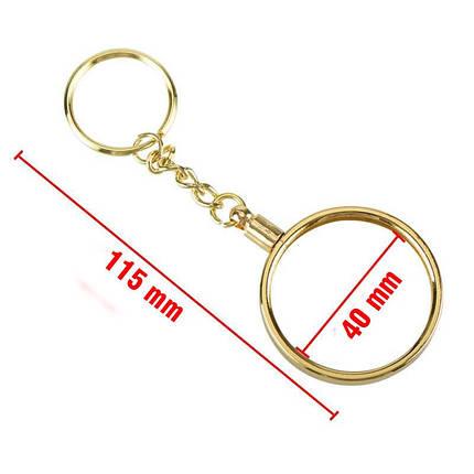Брелок на ключи в виде монеты Dash серебряная, фото 2