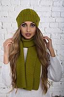 Женский головной набор, шапка и шарф , фото 1