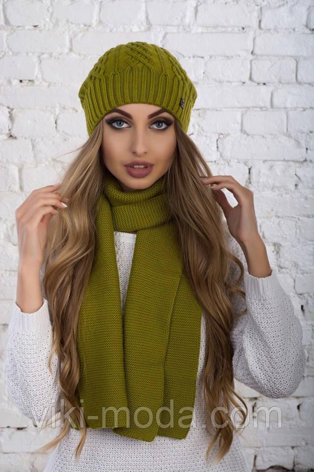 Женский головной набор, шапка и шарф