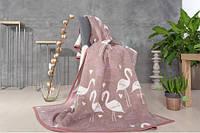 Покрывало-плед Kassandra Flamingo фиолетовый