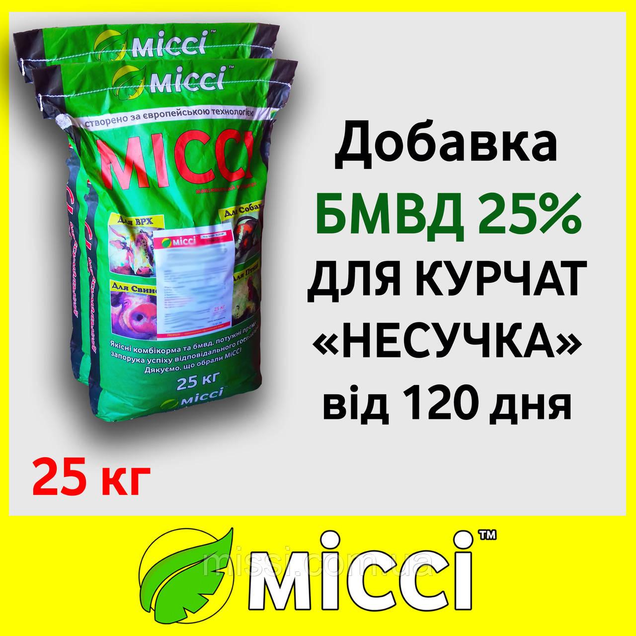 Добавка БМВД 25% КУРКА НЕСУЧКА (мешок 25 кг), Міссі