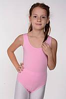 Дитяче трико для танців і хореографії (бавовна) Рожевий, фото 1