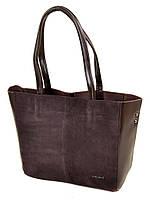 Большая женская сумка кожаная + замш классическая. Натуральная кожа + замшевый фасад 40*29*14см. Коричневый
