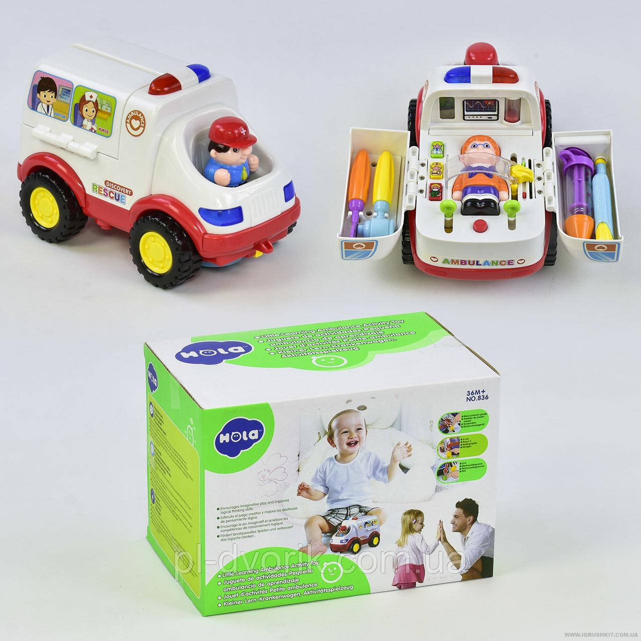 Розвиваюча іграшка Швидка допомога 836 (24) в коробці Довжина: 20 см Ширина: 12 см Висота: 11 см Упаковка: Коро