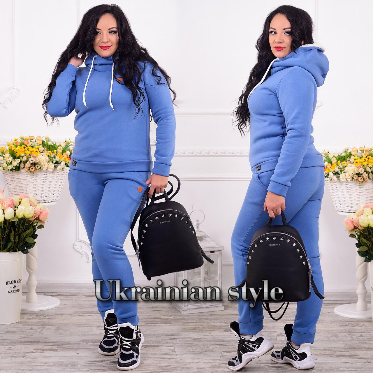 61091ef8 Трикотажный теплый женский батальный спортивный костюм. 3 цвета ...