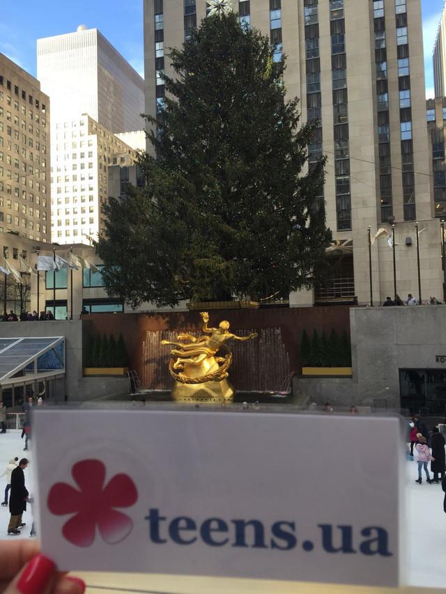 Раздел Зимние теплые спортивные костюмы - фото teens.ua - Нью-Йорк,Рокфеллер Центр,новогодняя елка