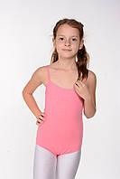 Дитячий купальник-майка для танців і гімнастики Рожевий, фото 1