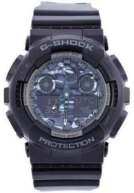 Мужские наручные часы Casio G-Shock AAA GA 100 Black Grey Military, копия