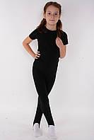 Детские леггинсы, лосины с вырезом под пятку для танцев и гимнастики Рост от 100 до 135 см