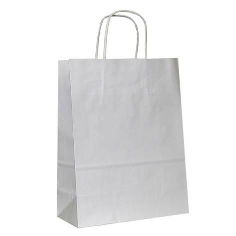 Бумажные пакеты белый крафт 450х160х400, фото 2