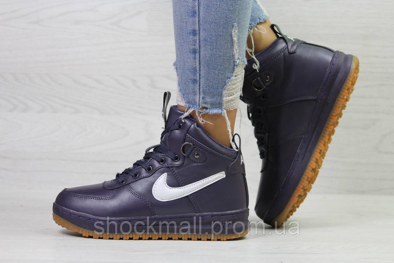 Кроссовки женские зимние Nike Air Force LF-1 фиолетовые - Интернет магазин  ShockMall в Киеве 28d5fce43e2