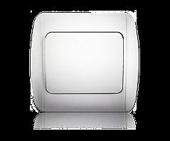 Выключатель одноклавишный белый ERSTE