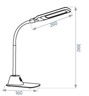 Настольный светильник DELUX TF- 450 серебро, фото 2