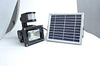 Прожектор LED на солнечной батарее ZJL GY-SFL-10A c датчиком движения 10w.