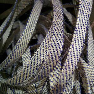 Декоративная лента (джутовая), 30 мм, V-узор. Украина, Фиолетовый