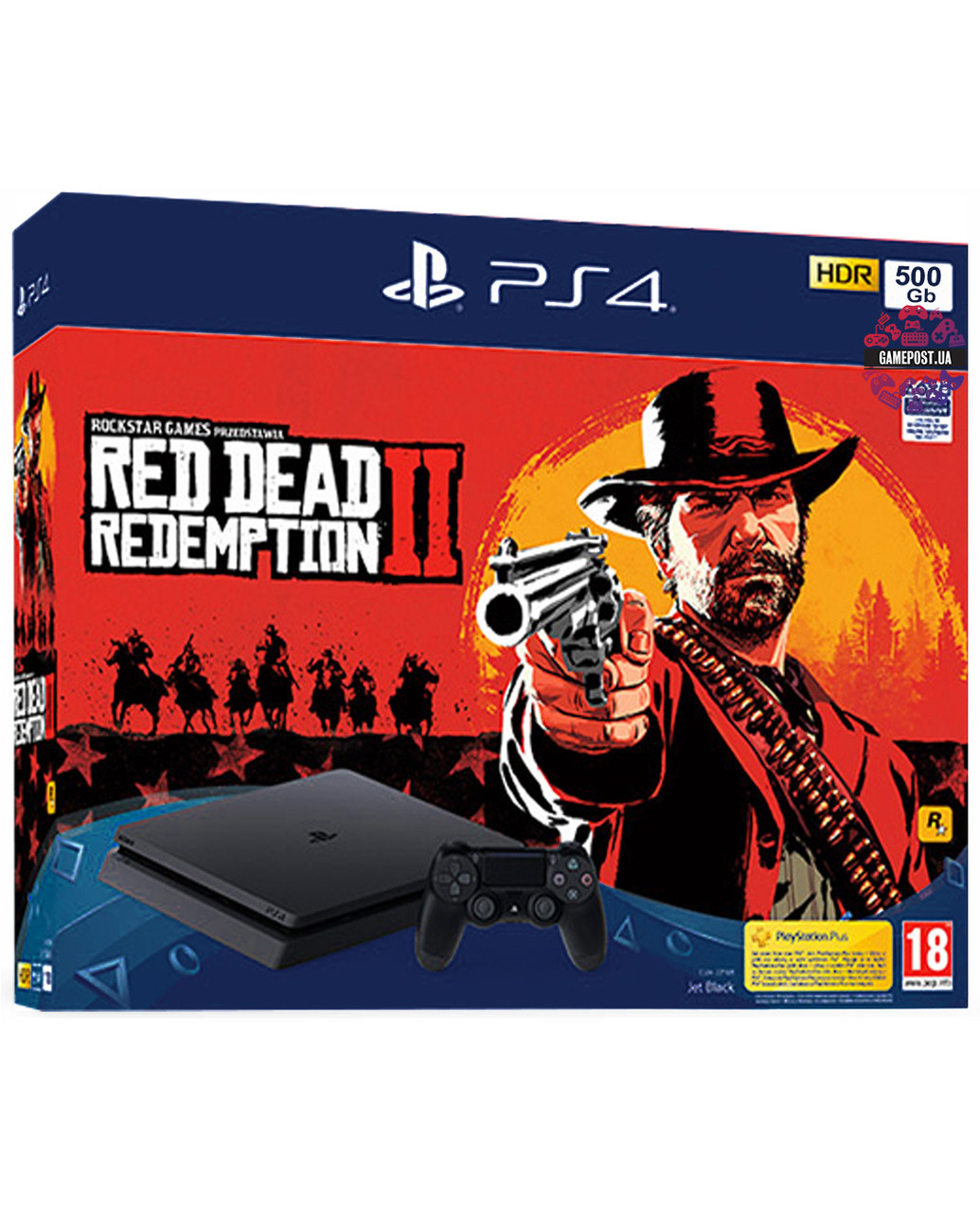 Playstation 4 Slim 500 GB + игра Red Dead Redemption 2Нет в наличии