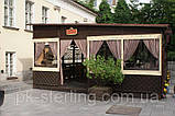 Крепление мягких окон ПВХ на беседку, террасу, летнее кафе, фото 2