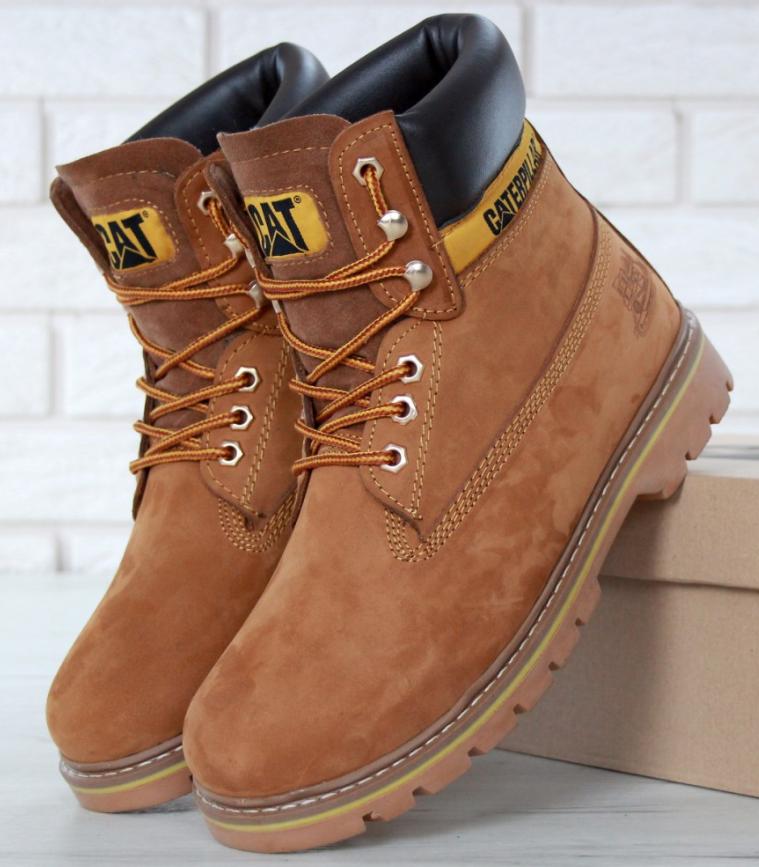 82aaf95db Мужские ботинки CATerpillar Зимние коричневые, ботинки катерпиллер -  интернет-магазин обуви «Walking»