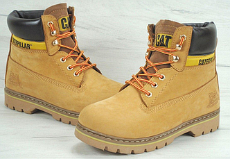 Мужские Ботинки зимние Caterpillar Second Shift Boots Yellow (катерпиллер) рыжие