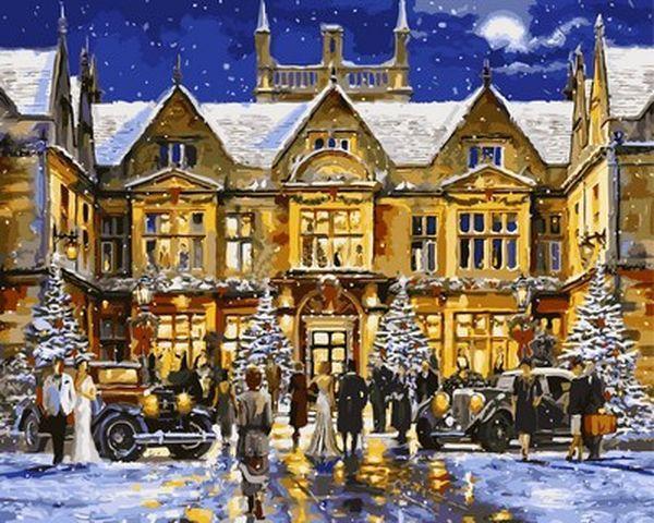 Картины раскраски по номерам 40×50 см. Рождественская ...