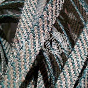Декоративная лента (джутовая), 36 мм, S-узор. Украина, Зеленый
