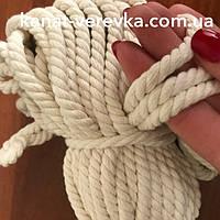 Веревка хлопок 6 мм - 100м (х.б) , фото 1