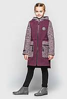 Кашемировое пальто Cvetkov Ванесса Бордовый