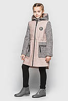 Кашемировое пальто Cvetkov Ванесса Пудра