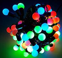 Новогодняя Гирлянда Шарики МУЛЬТИЦВЕТ внутренняя 40 led 7цветов