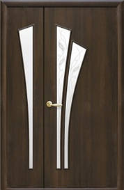 Полуторні двері Лілія Р скло сатин
