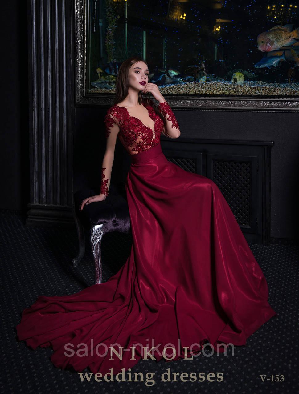 Вечернее, выпускное платье V-153