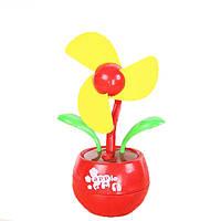 🔝 Маленький настольный вентилятор, USB вентилятор, «Цветок», декоративный, цвет - красный | 🎁%🚚