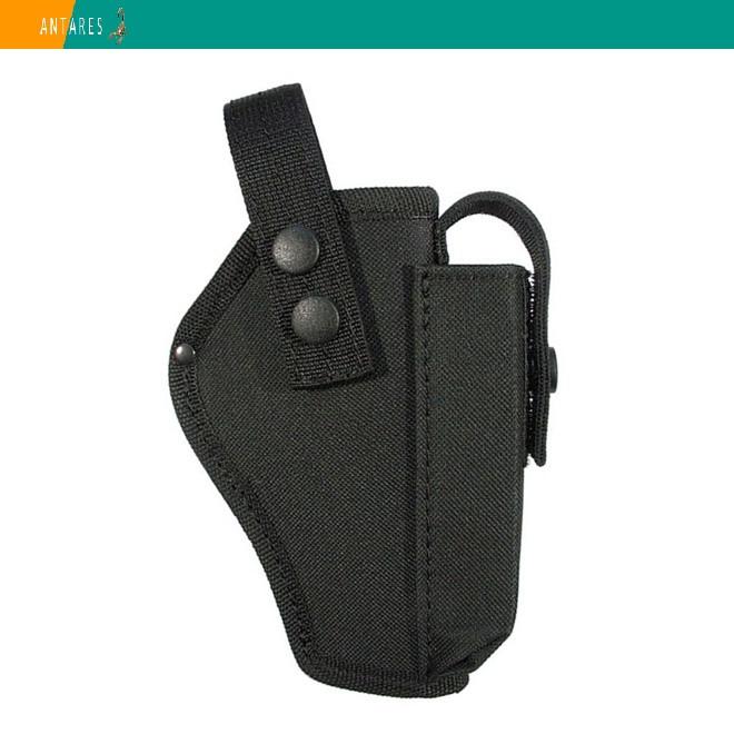 Кобура АПС поясная черная с карманом для магазина (033)