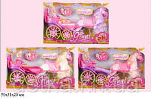 Карета Jinni 83196 с лошадью и куклой кор.50*19,5*30,5