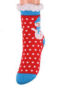 Детские носки на МЕХУ с тормозами (Арт. HD6015/1R/32-35)   1 пара