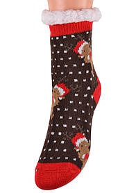 Детские носки на МЕХУ с тормозами (Арт. HD6015/4R/32-35)   1 пара