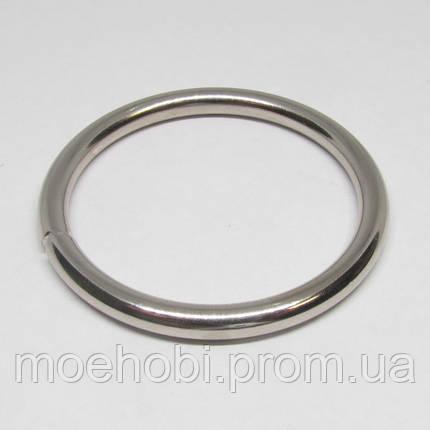 Кольца для сумок (39мм) никель,  4337, фото 2