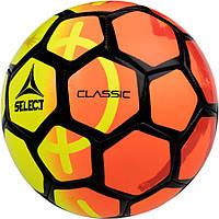 Детский футбольный мяч SELECT Classic желто-оранжевый, размер 4