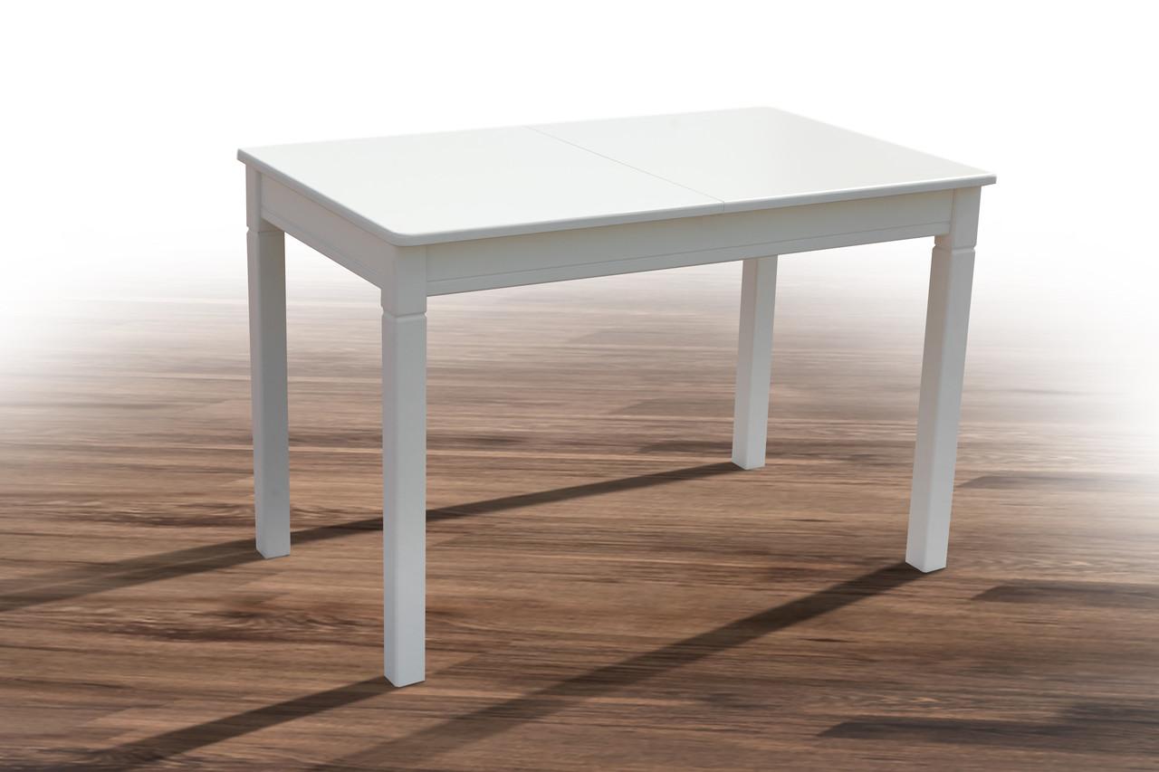 Обеденный стол из натурального дерева- Персей (цвет -орех, белый, ваниль)