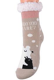 Детские носки на МЕХУ с тормозами (Арт. HD6017/6R/28-31)   1 пара