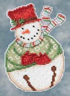 Набор для вышивки Jangle Snowbell Снеговик  Mill Hill