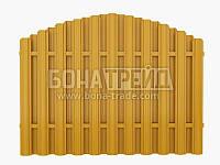 Евроштакет металлический «Арка» с двусторонней зашивкой секции