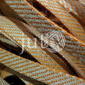 Декоративная лента (джутовая), 10 мм, S-узор. Оранжевый