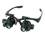Увеличительные очки лупы с подсветкой 10X 15X 20X 25X, фото 2