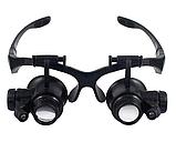 Увеличительные очки лупы с подсветкой 10X 15X 20X 25X, фото 3