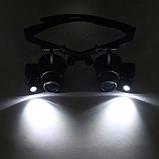 Увеличительные очки лупы с подсветкой 10X 15X 20X 25X, фото 7