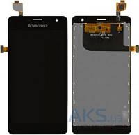 Дисплей (экран) для телефона Lenovo K860 + Touchscreen Original Black